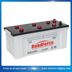 N150 12V de Droge Batterij van de Cel van de Last Automobiel/Automobiele voor het Op zwaar werk berekende Voertuig 150ah van de Commerciële Auto en van de Vrachtwagen