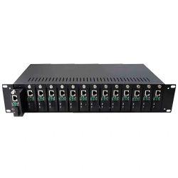 2u 16 слотов портов Media Converter для монтажа в стойке шасси