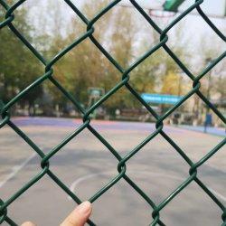 Sport/Spielplatz/Garten Belüftung-überzogener Diamant-Ineinander greifen-Kettenlink-Zaun