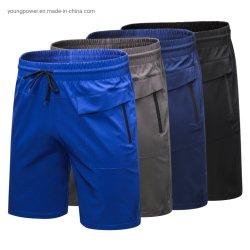 남자 강선 지퍼 포켓을%s 가진 Streetwear 체조가 액티브한 까만 파란 공백 메시 야구 자전거 타는 사람 테니스 배드민턴 저어지 관례에 의하여 누전한다