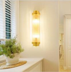 Decorazione minimalista postmoderna E14 Antica parete di rame lampada a cristallo