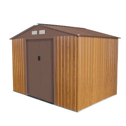 メンテナンスフリー屋外庭保管用金属製 Shed 9 × 6 フィート
