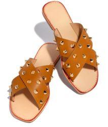 Form-bequeme Art-Sandelholz-Frauen-Schuh-flache ährentragende Hefterzufuhr-Dame-Schuhe Fa9276