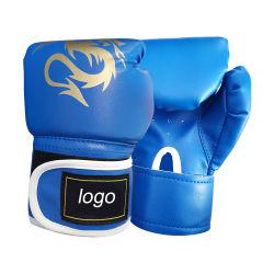 カスタムロゴのボクシンググラブに勝つ印刷されたトレーニングの良質PU革MMAのボクシンググラブ