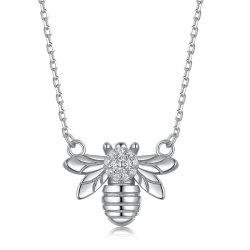 Collana sveglia minimalista unica dell'ape dell'argento sterlina dell'animale S925 piccola per il regalo dello Special delle donne