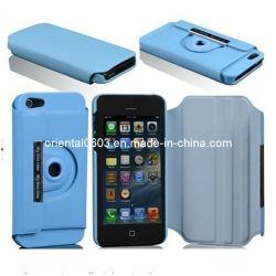 Caja giratoria de 360 grados para el iPhone 5 5G 5c 5s iPhone 4 4s Samsung Galaxy (OT-37).