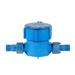 DN15 DN20 a granel Digital PA6+25%GF Flujo Single-Stream giratoria de plástico Contador de agua con la norma ISO para la industria