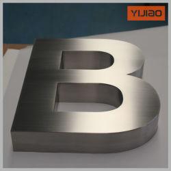 オフィスのレセプションの店の印のためのブラシをかけられた終わりの金属の経路識別文字304のステンレス鋼