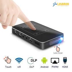 Soem intelligentes MiniHDMI/WiFi/Mirror Support 1080P Ultra-HD Projektor DLP tasche Screen/TF/USB 120 '' bewegliches Großbild