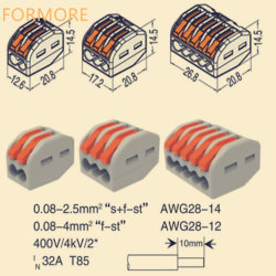 Connettore di /Wire del connettore di /2pin del connettore di Wago