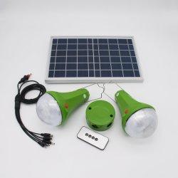 Fabricant Mini populaire Luz panneau solaire LED lumière d'urgence, /Portable Home Les systèmes avec chargeur de téléphone mobile