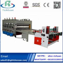 Halbautomatische Kettenzufuhr-gewölbte Karton-Pappe-Drucken-Maschine