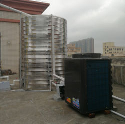 독립 구조로 서있는 임명을 가열하는 백색 작은 공기 근원 열 펌프 순환