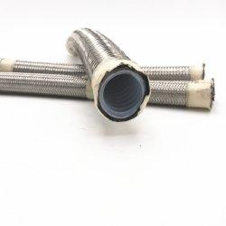 أنبوب خرطوم مطاطي بأنبوب مطاطي PAE100 R14 مرن للضغط العالي مضفر من الفولاذ المقاوم للصدأ