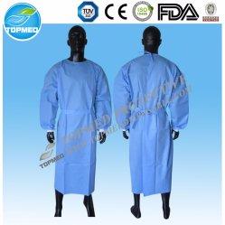 Nichtgewebtes geduldiges Wegwerfstandardkleid-medizinisches chirurgisches Kleid