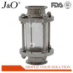 Gesundheitliches Edelstahl-Becken-zusätzliches Verbindungsstück-Röhrenanblick-Glas