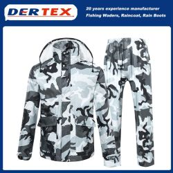 Resistente Rivestimento In Nylon Rivestimento In Materiale Militare Woodland Camo Rain Suit