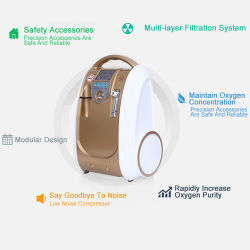 5L Medical concentrateur d'oxygène portatif pour les soins à domicile (OLV-B1)