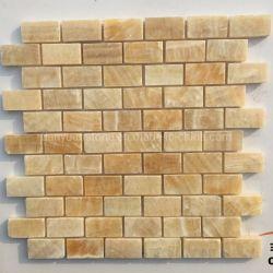 Natürlicher Steinfußboden-Poliermarmorhonigonyx-Mosaik