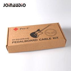 Uitrusting 1/4 van de Kabel van het Flard van het Pedaal van de Gitaar DIY de Stoppen van Solderless 16PCS met het Meetapparaat van de Kabel