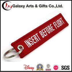 подарок для продвижения Keychains изготовленный на заказ<br/> полиэстер полет вышивка