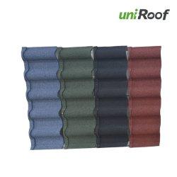 Haute qualité des matériaux de construction enduits de pierre colorée Tuile de métal
