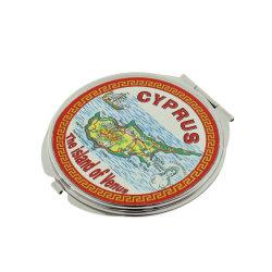 Настраиваемые цинкового сплава круглой выемки в зеркало заднего вида для Парижа сувенирный подарок для продвижения