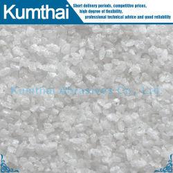 最上質のサンドブラスティングによって溶かされるアルミナの白い酸化アルミニウム