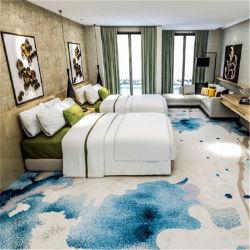 一面のホテルの部屋の宴会および通路の切口の山の床のナイロンによって印刷されるカーペット