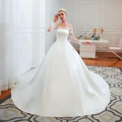 Sexy&Elegante fuera de hombro de la Catedral de manga larga línea de tren de la Mancha vestido de novia vestido de novia vestidos de novia