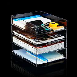 4 file rimuovono il banco di mostra acrilico dell'opuscolo