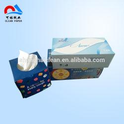 2 Capas Soft Caja Cubo de la impresión de papel tejido Facial