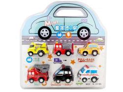 Plastique 6PCS voiture Mini Voiture Voiture jouets tirer en arrière (H0415333)