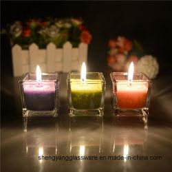 Una muestra gratis de té mayorista decorativos de la luz de velas aromáticas Jar