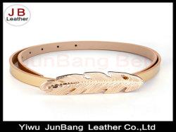 La forme des feuilles fermoir de la plaque de boucle de ceinture de cuir pour dames de PU robe