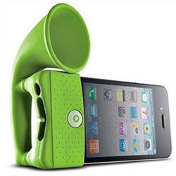 iPhoneのためのデザイン角の立場のSiiliconeの標準的な拡声器