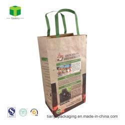 Древесина древесный уголь крафт-бумаги мешок, площадка для барбекю древесный уголь упаковки бумажных мешков для пыли
