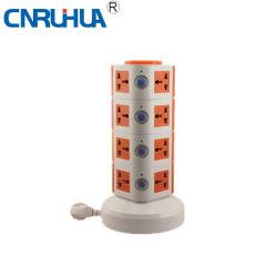 중국 OEM 가정용품 4레이어 16 방법 수직 지면 소켓