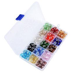 LS Box 150PCS 8X13mm Snijkristal glazen kralen Sieraden maken Bevindingen afstandsstuk DIY Jewelry kralen