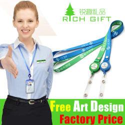 Commerce de gros coloré cordon rétractable personnalisé porte-badge