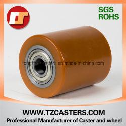 """5"""" 레드 PU 온 캐스트 아이언 헤비듀티 안티 저항 음소거 Workbench/Factory Factilty 80 * 100용 Rigid Caster Wheel"""