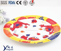 8 polegadas impressa personalizada de fantasia a granel descartáveis pratos de papel