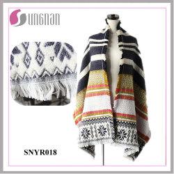 Última elegante Senhoras mecanismos Jacquard o floco de neve pendão imitar o lenço de Caxemira