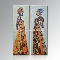 L'usure caractéristiques nationales femme africaine moderne de l'huile sur toile peinture vraiment incroyable (FI-053)