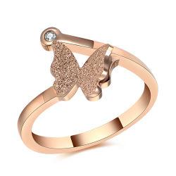 Dama de la moda de joyería de acero inoxidable dedo el anillo (HDX1040)