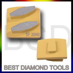 Husqvarna Redi Diamante de trava de metal do segmento de moagem Bond Chapas do Piso Diamond Abrasivo para betão