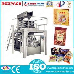 De roterende Stevige Zak die van het Voedsel van de Korrel de Machine van de Verpakking van de Zak Premade voor de Noten van de Snacks van het Suikergoed verpakken