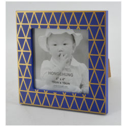 blaues Frame mit Golden Line für Home Decoration