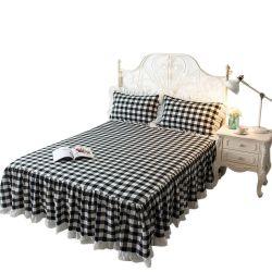 100% قطن سوداء وبيضاء لون شريط سرير حاسة