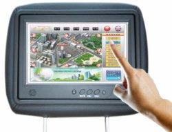 سيارة تاكسى 9 بوصة معلقة على شاشة LCD عالية الدقة ADP HD فردية مزودة بتقنية WiFi 3G Vedios عالية الجودة مشغل أقراص DVD للسيارة بنظام Android